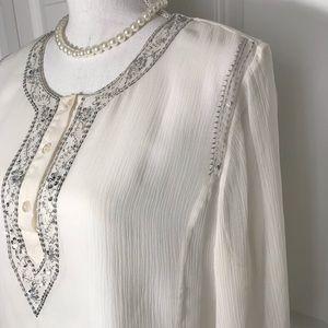 Chadwicks, White Women's Blouse, Sz 12, Gorgeous